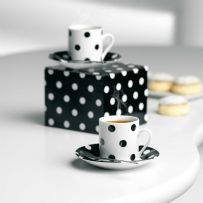 Black & White Spotty Espresso Set